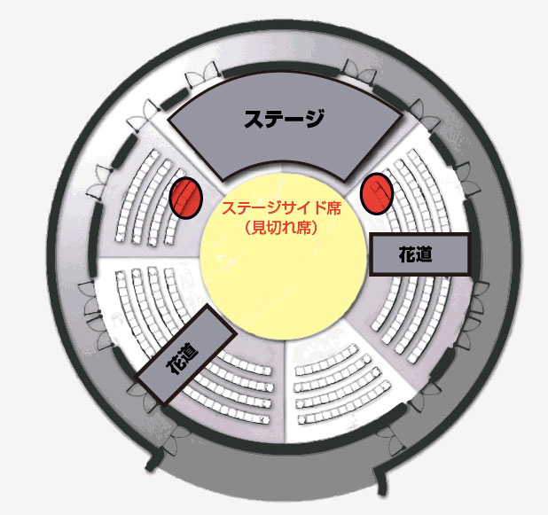 劇団鹿殺し 【対象座席】左右最前ブロック 【対象ステージ】 以下のステージ、各回枚... 劇団鹿